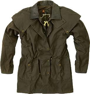 Kakadu Mens Oil Cloth Oilskin Western Australian Waterproof Duster Jacket Heavy Duty Warm