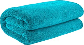 40x80 Inches Jumbo Size, Thick and Large 650 GSM Bath Sheet Cotton, Luxury Hotel & Spa Quality, Absorbent and Soft Decorative Kitchen and Bathroom Turkish Towels, Aqua Ocean