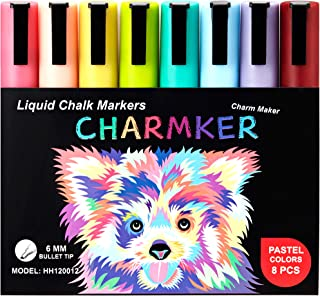 Pastel Liquid Chalk Markers (8-Pack) Erasable, Chisel Tip Pens for Writing, Drawing, Art, Crafts   Chalkboard, Bistro Board, Classroom   Kid and Adult Friendly   Non-Toxic