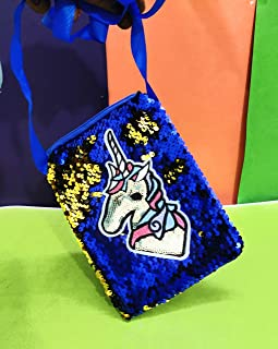 KIDOS JOY™ Funky Unicorn Reversible Sequence Shoulder Sling Bag for Kids/ Gifting Option for Unicorn Lover / Party Birthda...