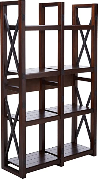 Ameriwood Home Wildwood Wood Veneer Bookcase Room Divider Espresso
