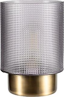 Pauleen 48133 Pure Glamour Lampe Mobile Poser minuterie de 6 Heures Pile luminaire sans câble Gris/Métal, 0.8 W, Verre fum...