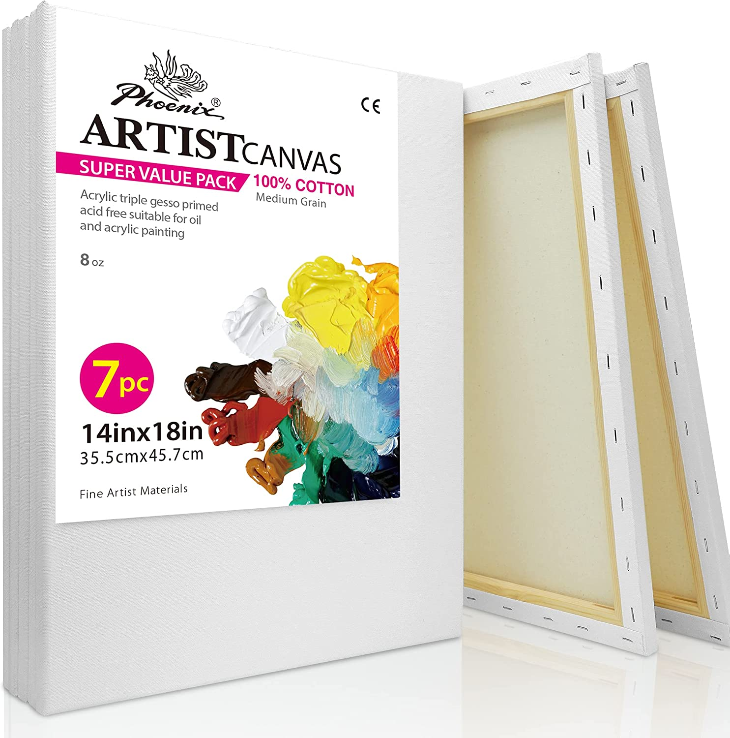 PHOENIX White Blank In stock Cotton Stretched Canvas Painting - Artist 14 40% OFF Cheap Sale