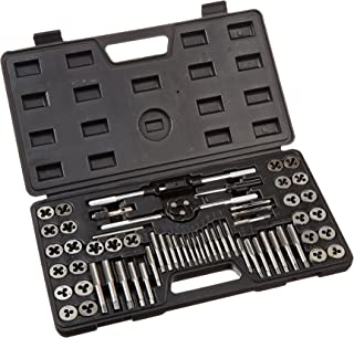 Gino Development 02-0554 TruePower Alloy Steel SAE/Metric Tap and Die Set (60 Piece)