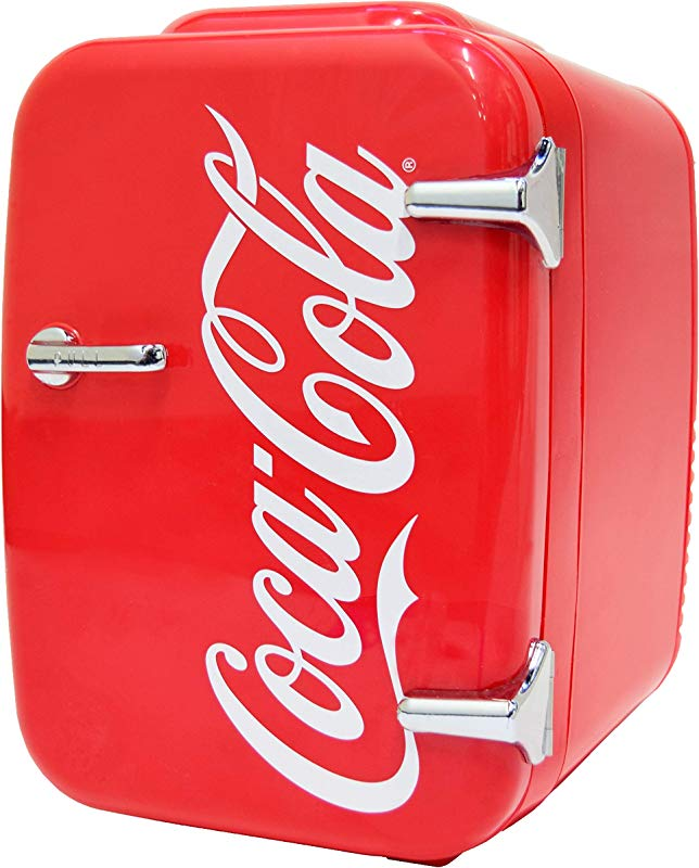 Coca Cola Vintage Chic 4L Cooler Warmer Mini Fridge By Cooluli For Cars Road Trips Homes Offices And Dorms