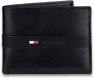 Men's Leather Wallet – Slim Bifold with 6 Credit Card Pockets and Removable Id..