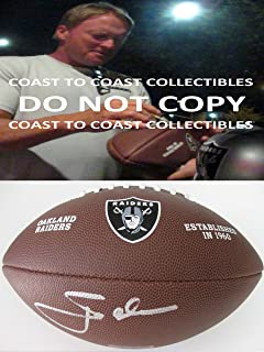Jon Gruden Oakland Raiders signed autographed, Logo Football, COA with Proof