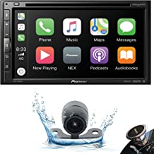 """$341 » Pioneer AVH-2500NEX Double DIN in-Dash DVD/CD Car Stereo Receiver with Built-in Android Auto and Apple CarPlay, 6.8"""" Touchscreen, and WebLink + Backup Camera + Gravity Phone Holder"""