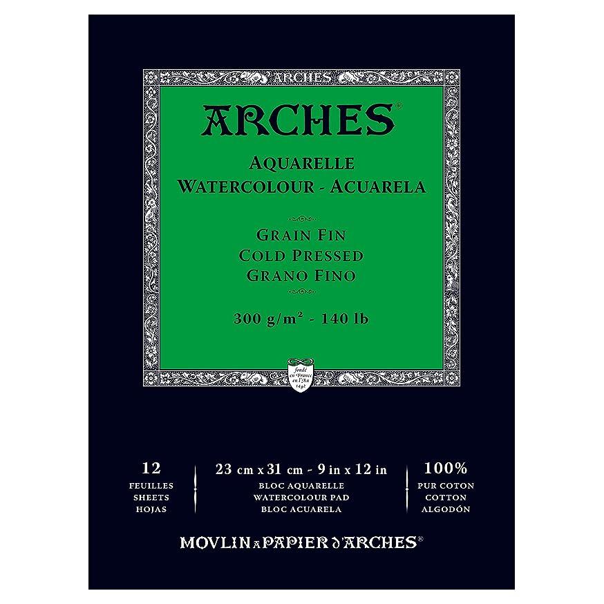 Arches Watercolor Paper Pad, 140 pound, Cold Press, 9