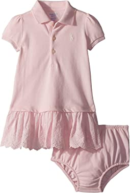 Ralph Lauren Baby Eyelet Polo Dress & Bloomer (Infant)