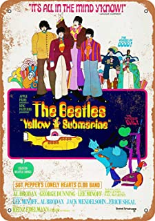 Jeremy Mann Nice Tin Sign Metal Sign Beatles Yellow Submarine Movie Vintage Look 8x12