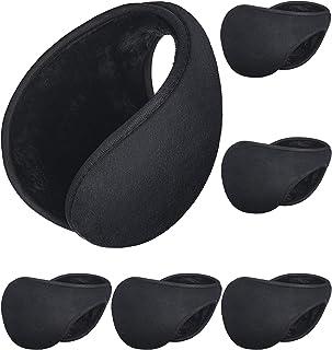 Sumind 6 Pack Earmuffs, Winter Outdoor Earbags Black Ear Warmers