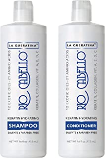 RIO Keratin Shampoo & Conditioner Set | Hydrates Restores & Moisturizes Dry Hair | Color Protection | For All Hair Types | Paraben & Sulfate Free | For Men & Women | Coconut, Avocado, Argan Oil (16oz)