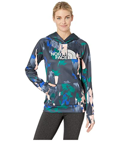 The North Face Fave Half Dome Pullover 2.0 (Dazzling Blue Painted Feather Print/High-Rise Grey) Women