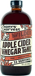 Hany's All Natural Wilder Apple Cider Vinegar Tonic with Burdock and Dandelion Roots 16 oz