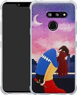 c713a05a4f6 HHDY LG G8 ThinQ Funda, Pintura Ultrafina Suave TPU Silicona Diseño de  Bumper Cojín de