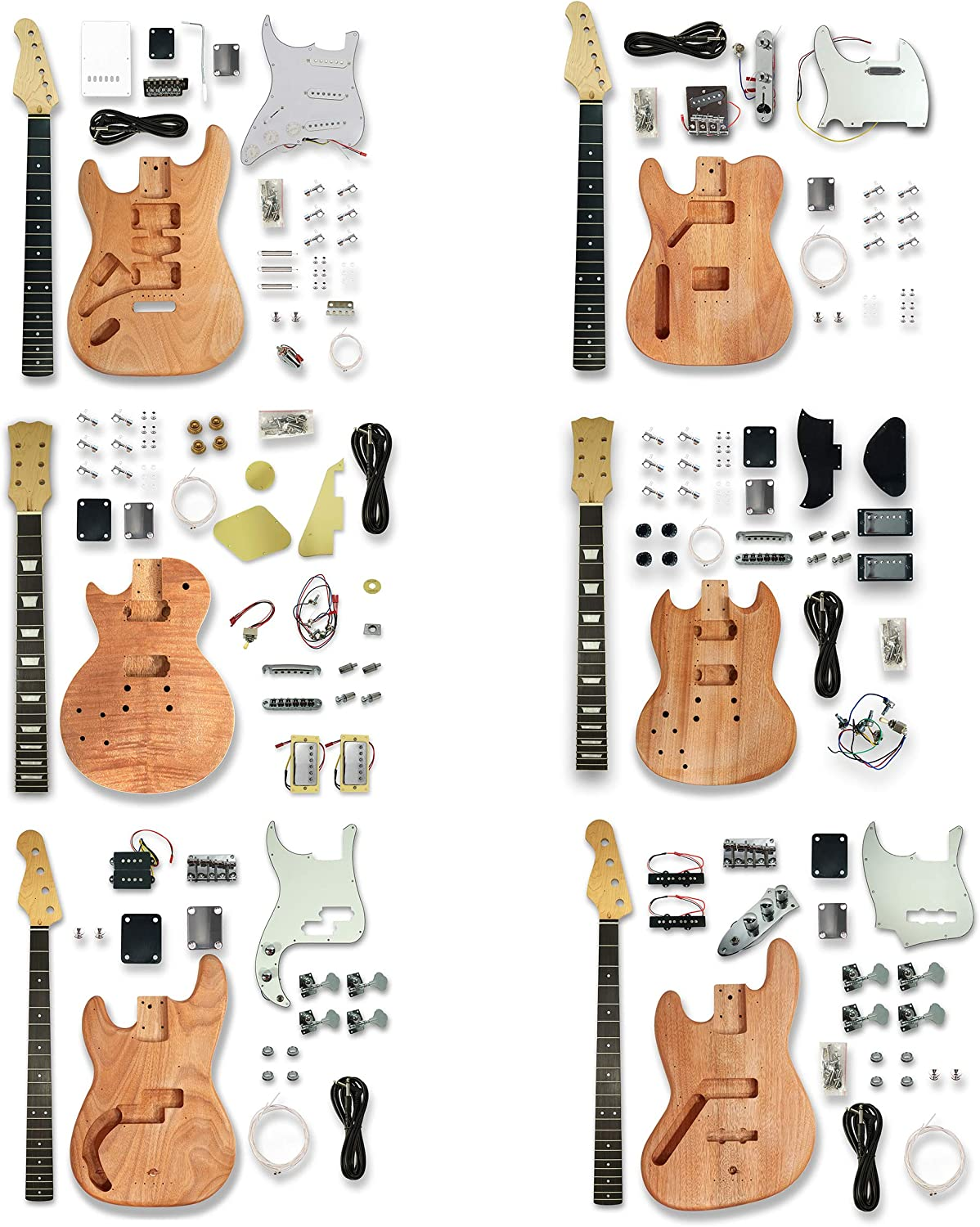 Left-handed Unfinished-DIY Electric-Guitar-Body-PB-Bass-Guitar-Body-Parts