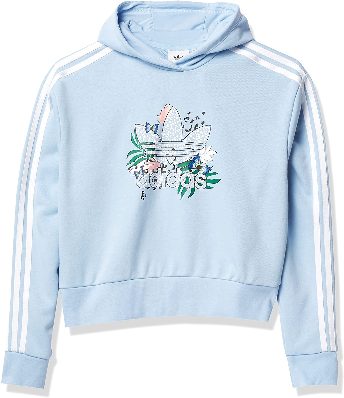 adidas Originals Girls' Her Studio London Collab Crop Hoodie