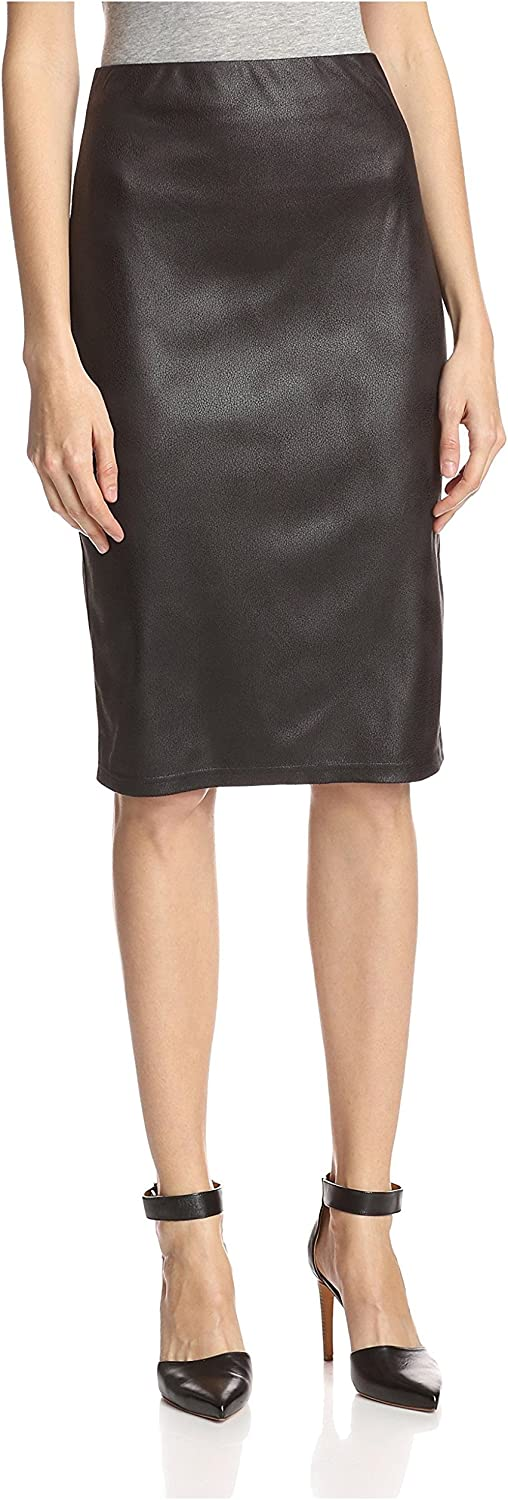 Insight Women's Crackle Faux Leather Skirt