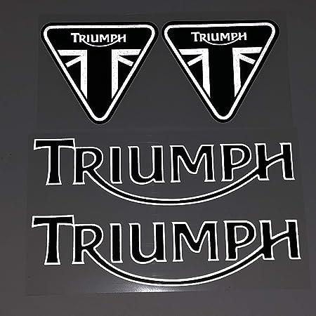 Etiqueta engomada Motocicleta para Triumph Casco Motocicleta Etiqueta Etiqueta Etiqueta Etiqueta Etiqueta Reflectante Etiqueta En Pegatina De Coche Adecuado para Triumph Logo (Color : A)