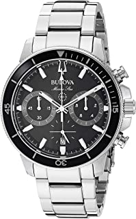 Bulova Men's 45mm Marine Star Stainless Steel Chronograph Bracelet Watch