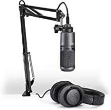 Audio-Technica AT2020USB+PK Vocal Microphone Pack for Streaming/Podcasting