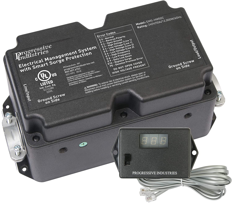 Progressive Industries HW50C Hardwired EMS RV Surge Protector Protector