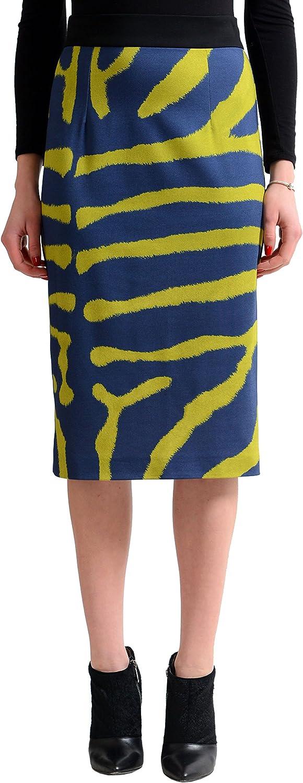 Just Cavalli Women's Multicolor Stretch Pencil Skirt US S IT 40