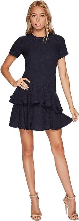 Rebecca Taylor - Short sleeve Pucker Jacquard Dress