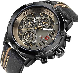 Military Watch Men Sport Watches Waterproof Analog Quartz Leather Date Calendar Clock Casual Wristwatch