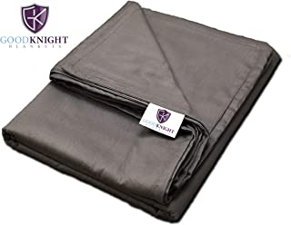 Good Knight Blankets 100% Cotton Removable Duvet Cover for Weighted Blanket (60