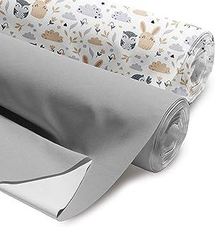 Tessuto di cotone al metro, set da 2 pezzi, 100 x 160 cm, tessuto per cucito, Öko-Tex Standard 100