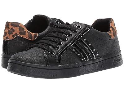 Geox Kids Jr Djrock 38 (Big Kid) (Black Oxford) Girls Shoes