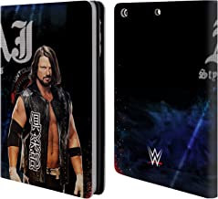 Official WWE LED Image 2017 Aj Styles Leather Book Wallet Case Cover Compatible for iPad Mini 1 / Mini 2 / Mini 3