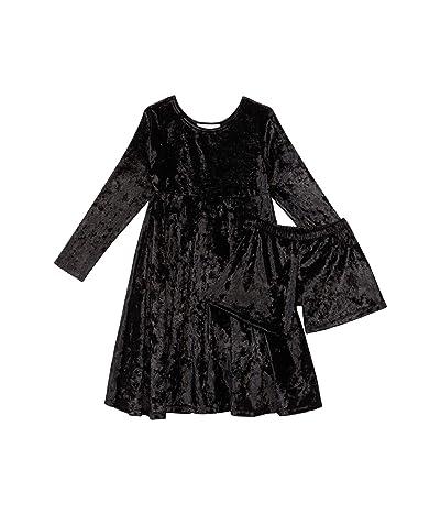 fiveloaves twofish Velvet Emma Dress (Little Kids/Big Kids) (Black) Girl