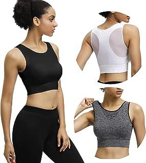Eunicer 3 Pack Women's Racerback Sports Bras Medium/Low Impact Workout Yoga Sports Bras (3pack)