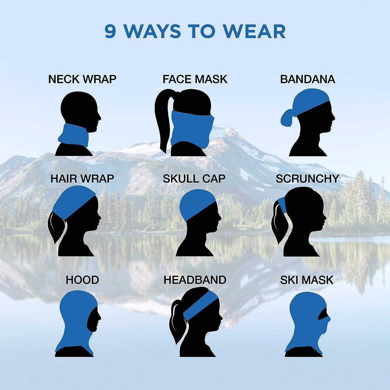 FlexFiber Neck Gaiter, Breathable Face Mask for Men and Women, Lightweight Face Covering, Digital Camo Print Colors