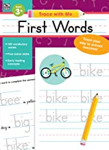 Carson Dellosa – First Words Activity Book for PK, K, 1st, 2nd Grade, Paperback, 128 Pages, Ages 3+ (Trace with Me)