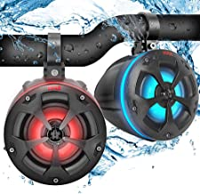 "$93 » 2-Way Dual Waterproof Off-Road Speakers - 4"" 800W Marine Grade Wakeboard Tower Speakers System w/RGB Lights & Remote, Full..."