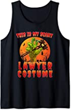 This is My Scary Lawyer Costume Zombie Spooky Halloween Tank Top