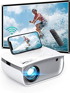 AUKEY Mini Proiettore Portatile, Videoproiettor Supporta 1080P Full HD, Proiettore WIFI 5500 Lumen, Proiettore Portatile p...