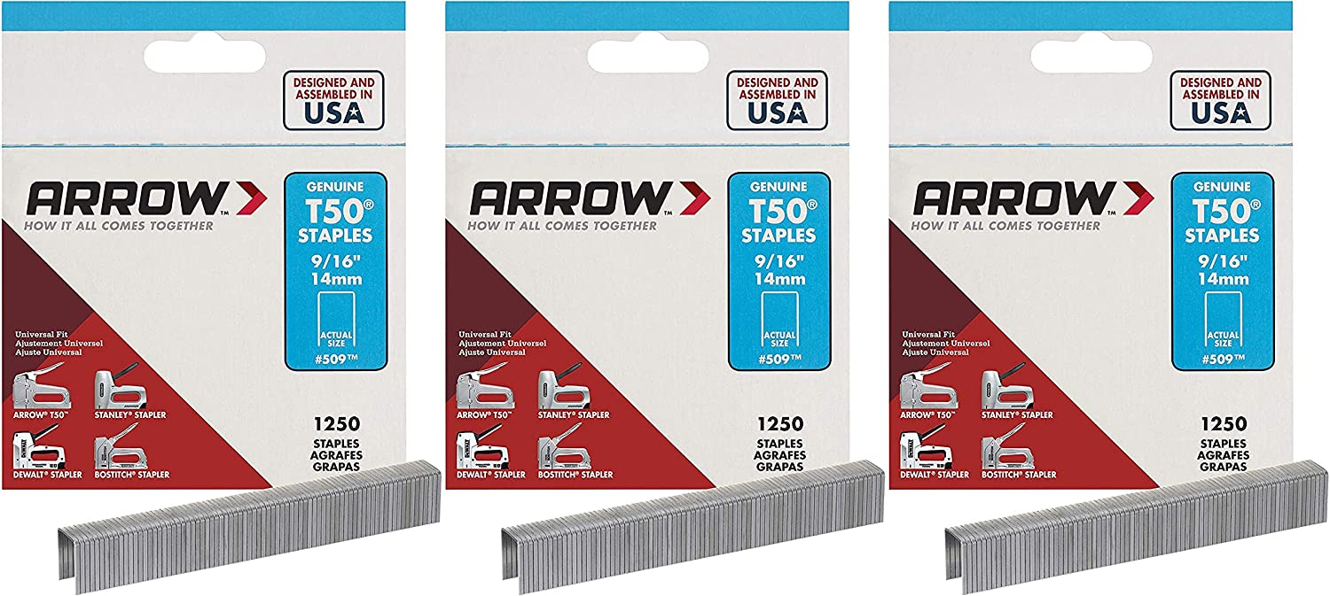 Arrow Fastener 509 Genuine T50 Super Special SALE held 9 1 250-Pack 16-Inch Staples P 3 Large special price