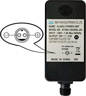 Replacement Yard Inflatable Adapter Power Supply Adaptor 12Vdc 2.5A 2500mA 2.50Amp UL or ETL Listed 12V for Home Lawn Yard Garden Holiday Inflatable Decorations