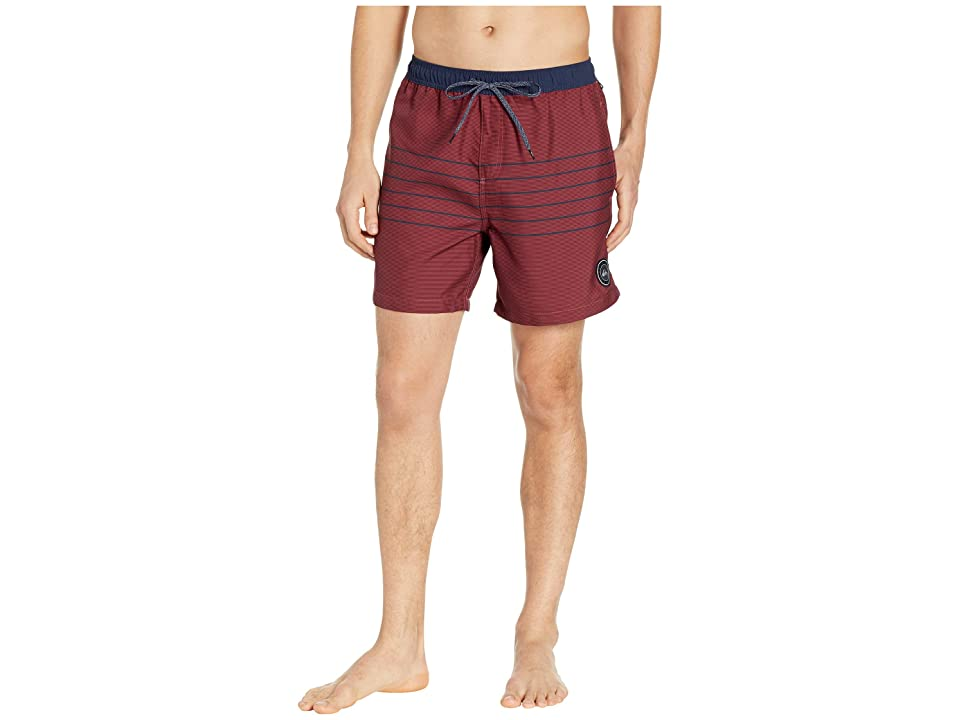 Quiksilver Fineline Volley NB 17 Boardshorts (Brick Red) Men
