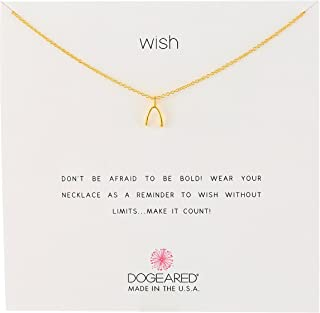 Best dogeared wishbone gold Reviews