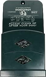 DOGIPOT 1007-2 Junior Bag Dispenser with Litter Bag Rolls, Polyethylene, Forest Green
