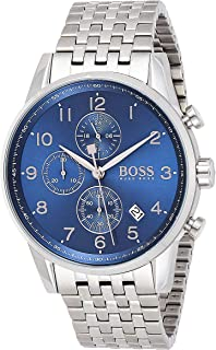 Hugo Boss Men's Chronograph Quartz Watch With Stainless Steel Bracelet - 1513498, Analog Display