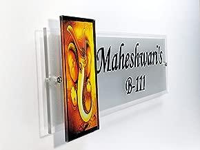 Sangam Ad Trans Print Maheshwari's Clear Shine Acrylic Vinyl Sticker Letters Door Nameplate 12X4X.15