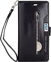 FOLICE Galaxy J3 (2016) J320/ Sky S320/ Sol J321/ Amp Prime/Express Prime Case Zipper Wallet Case [Magnetic Closure]& 9 Ca...