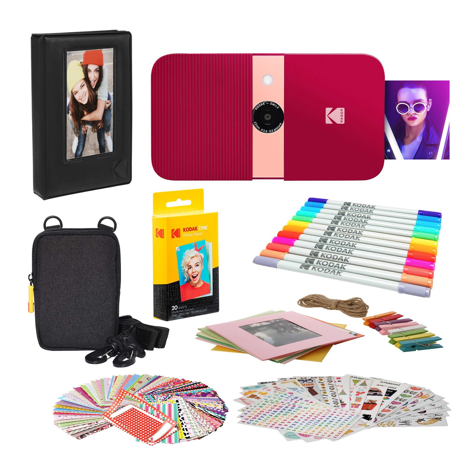 KODAK Smile Impresora Digital instantánea (Rojo) Paquete de Marcos de Fotos con Estuche Blando: Amazon.es: Electrónica